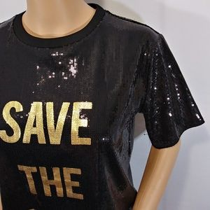 Forever 21 Tops - Save The World Sequin Top Forever 21 Size Small